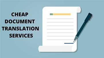 Cheap Document Translation Services
